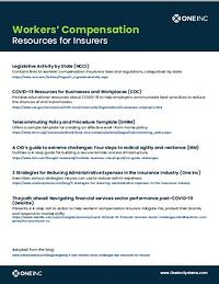 Workers Comp Resources List - One Inc Blog Thumbnail