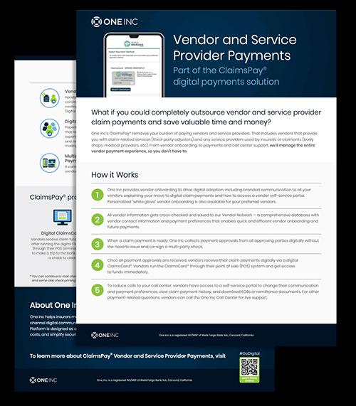 vendor service provider datasheet graphic